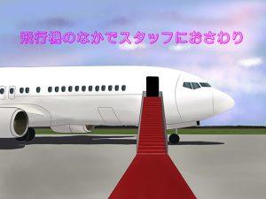 【新着同人ゲーム】飛行機の中でスタッフにおさわり